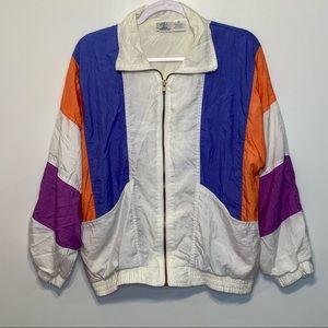 Vintage 1980's Zip Up Windbreaker Jacket